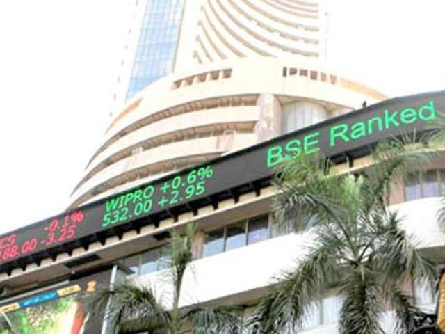 The benchmark Sensex on Monday recorded its first drop in three sessions after fluctuations for better part of the session.