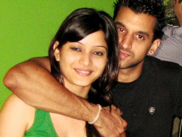 Sheena Bora with Peter Mukerjea's son Rahul Mukerjea.