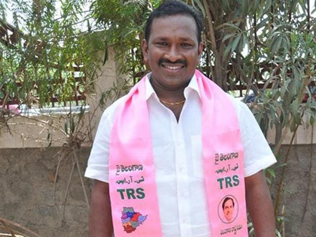 A file photo of TRS MLA Pasunoori Dayakar. Dayakar won the Warangal Lok Sabha with a record-breaking margin of nearly 4.6 lakh votes,  surpassing the previous record-holder, CM KC Rao, by nearly 70,000 votes.