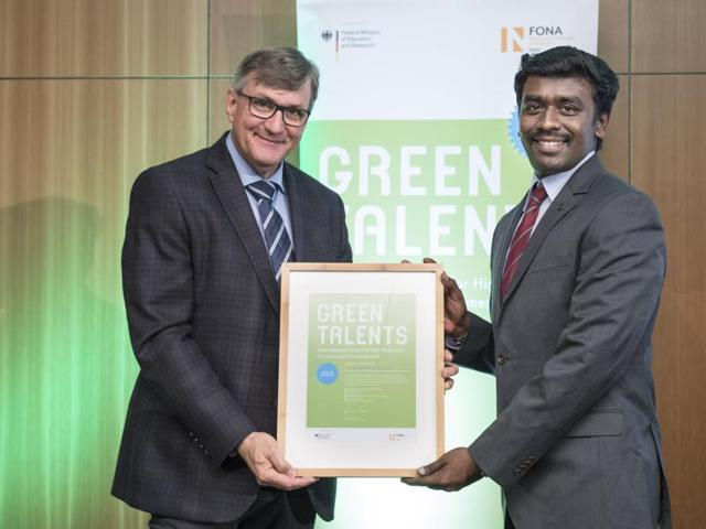 Arun Prasad Kumar,Green Talents Award,Sustainable Development