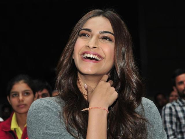 Bollywood actor Sonam Kapoor during the HT Youth Forum in Chandigarh on Monday