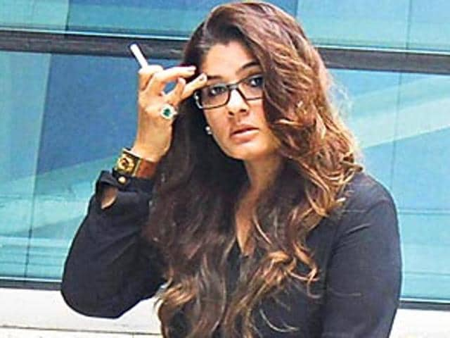 Raveena Tandon spotted at the Mumbai airport.