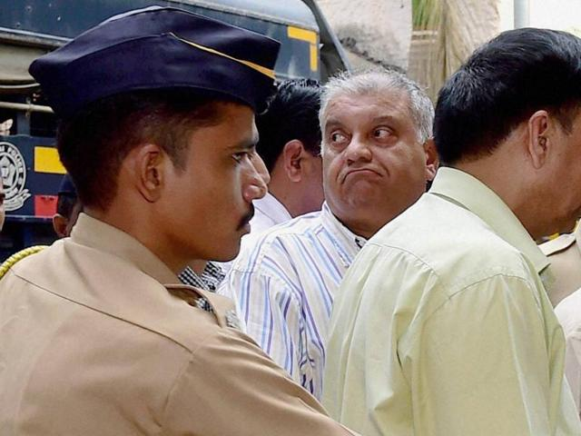 Peter Mukerjea, who was arrested in the Sheena Bora case, being produced at Esplanade court in Mumbai on Monday.