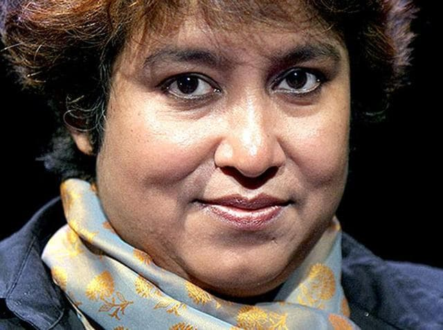 File photo of Bangladeshi writer Taslima Nasreen in Paris.  She highlighted the fact that even a well-known celebrity like Aamir Khan felt uneasy by the rising incidents of violence.