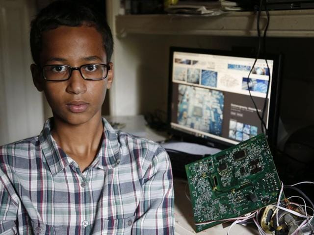 Ahmed Mohamed, 14, poses for a photo at his home in Irving, Texas.