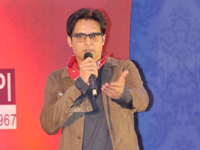 Actor Jimmy Shergill at HT Youth Forum in Chandigarh.