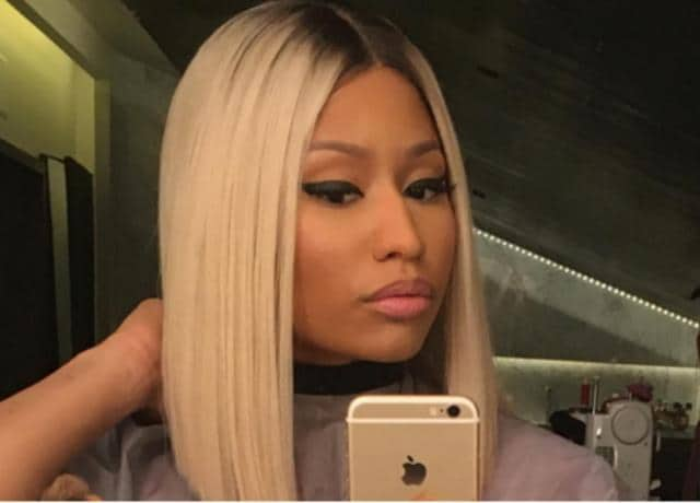 Nicki Minaj shared her new-look in image-sharing web site Instagram.