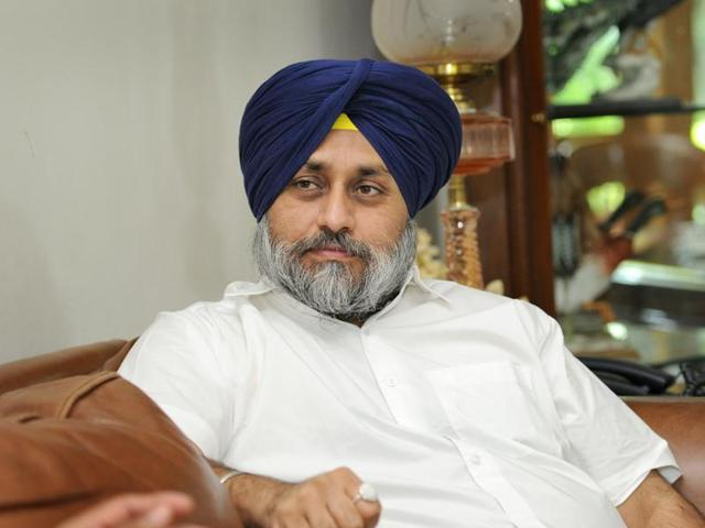 Punjab deputy chief minister Sukhbir Singh Badal.
