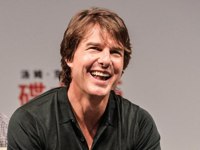 Tom Cruise attending the Shanghai premiere of Mission: Impossible - Rogue Nation.