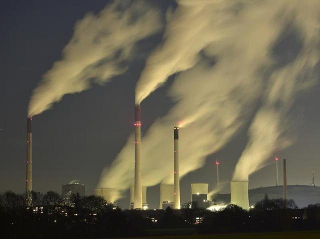 In this file photo, smoke streams from the chimneys of the coal-fired power station in Gelsenkirchen, Germany. The UN weather agency had said earlier levels of carbon dioxide and methane, the two most important greenhouse gases, reached record highs last year.