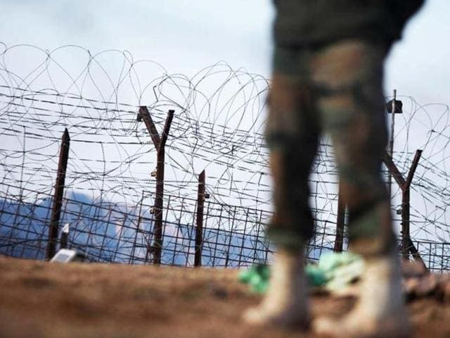 Military movement in Tangdhar. Unconfirmed reports said a group of five to seven militants had recently infiltrated in the area and might have tried to attack the camp.(Photo from ANI Twitter account)