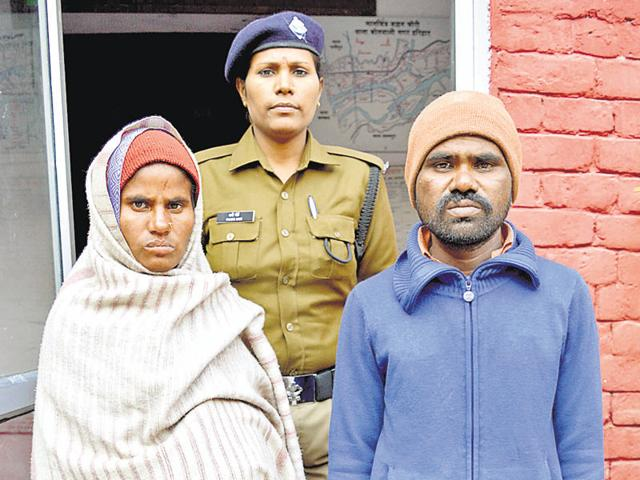 The arrested couple in Haridwar.