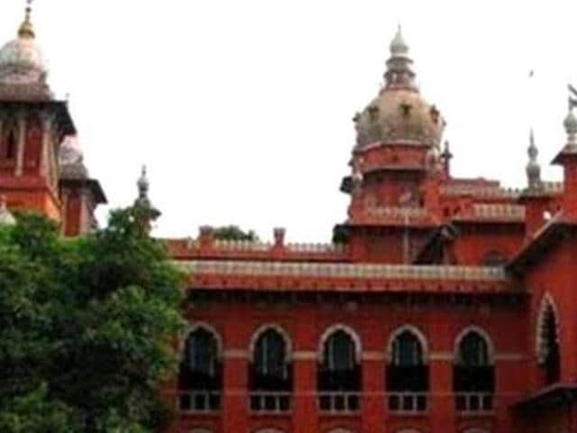 A file photo of Madras high court.