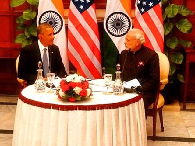 File photo of President Obama and Prime Minister Narendra Modi.