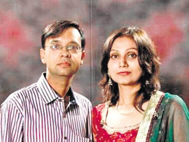 File photo of Anurag Agarwal and Monika.