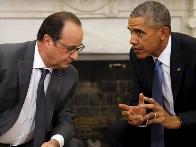 Barack Obama,Francois Hollande,Russia