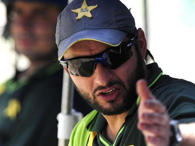 File photo of Pakistani cricketer Shahid Afridi. Afridi has said that he wants resumption of cricket ties with India  irrespective of politics.
