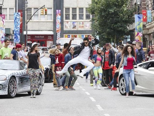 Varun Dhawan in a still from Dilwale.
