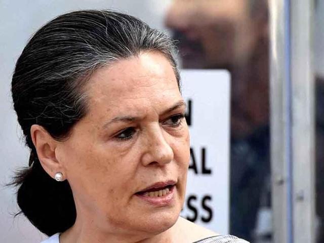 Congress president Sonia Gandhi in Lok Sabha during the first day of winter session of Parliament.