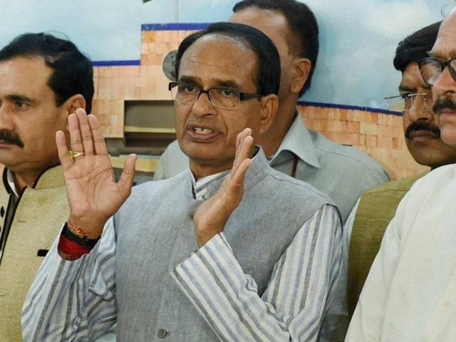 Madhya Pradesh chief minister Shivraj Singh Chouhan.