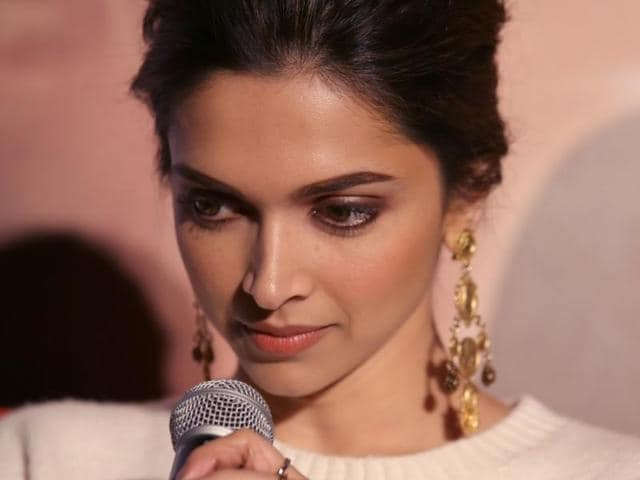Deepika Padukone during a press conference to promote her upcoming film Tamasha in New Delhi.