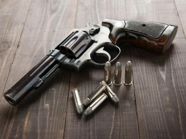 A 50-year-old doctor was shot at by four gangsters late on Wednesday evening reportedly for refusing to cough up extortion money.