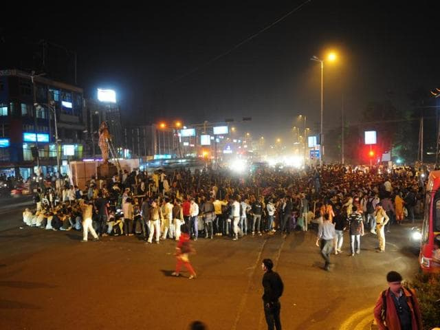 Heavy traffic jam was witnessed at Board Office Square in Bhopal on Thursday as Dalits and tribals staged a protest .