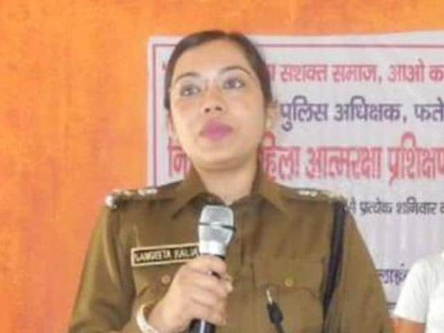 Fatehabad SPSangeeta Kalia was transferred after a spat with Haryana health minister Anil Vij