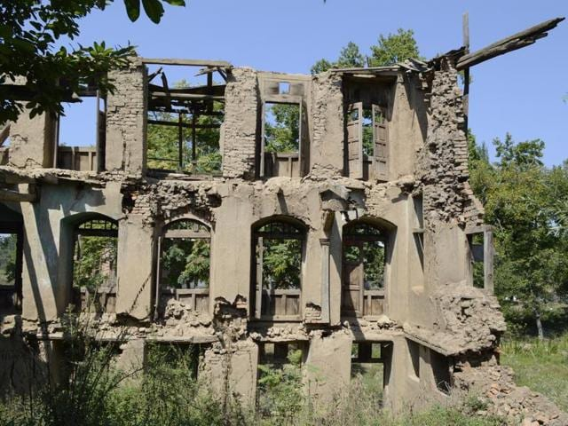 The abandoned home of a Pandit family in Kashmir.