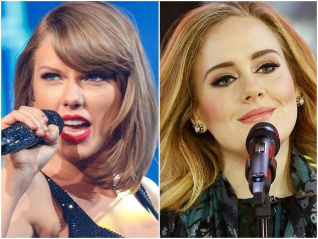 """Adele revealed that a song called """"Send my love (to your new lover)"""" from her latest album 25 happened because of Taylor Swift."""