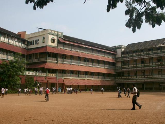 St Stanislaus High School (above) and St Peter's Church in Bandra have been clubbed together in the Development Plan.