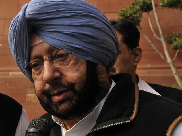 Punjab Congress president Captain Amarinder Singh .