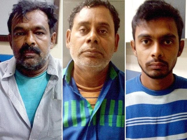 The three suspected ISI agents, Mohammed Jahangir , Asfaq Ansari , Irshad Ansar arrested in Kolkata on Sunday.