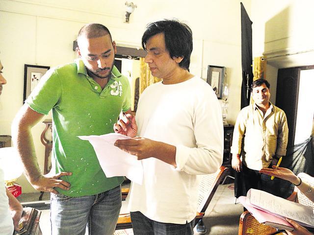 Asaduddin with director Tony D'Souza.