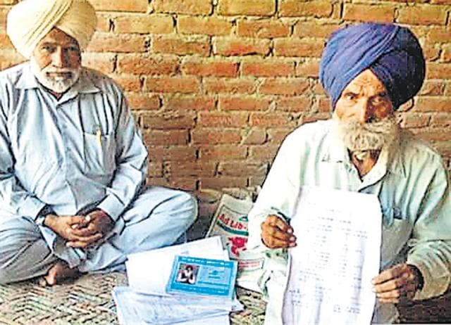 """Gurmail Singh said he came to know he had been written off as """"dead"""" when he visited the pension department and the bank to know why the pension had been discontinued."""
