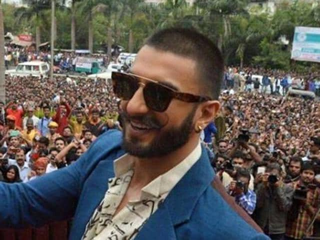 Ranveer Singh meets fans in Bhopal during a promotional event for Bajirao Mastani.