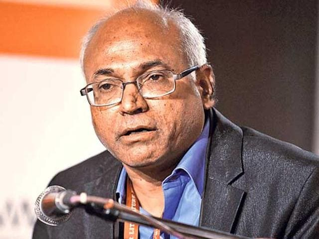 File photo of Kancha Ilaiah at the Jaipur Literature Festival in Rajasthan.