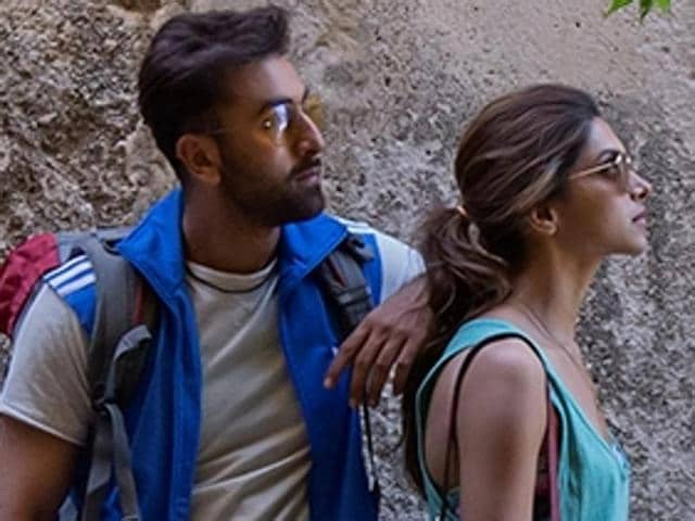 Ranbir Kapoor and Deepika Padukone in Tamasha. The film's good BO collection comes as a relief for Ranbir who has had three flops in a row.