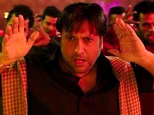 Bollywood actor Govinda performING during Dandiya night in Patna on Sunday.