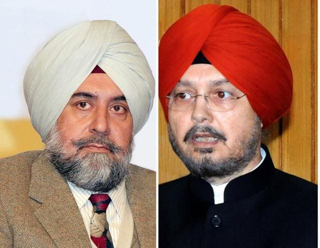 Former CIC Ramesh Inder Singh and Punjab chief info commissioner SS Channi.