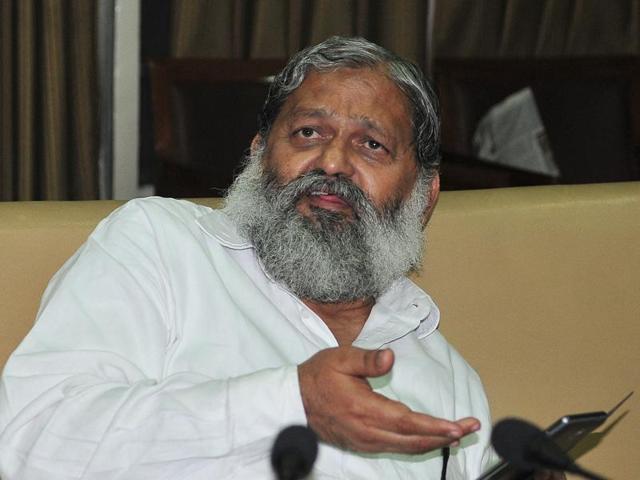 A file photo of Haryana minister Anil Vij.