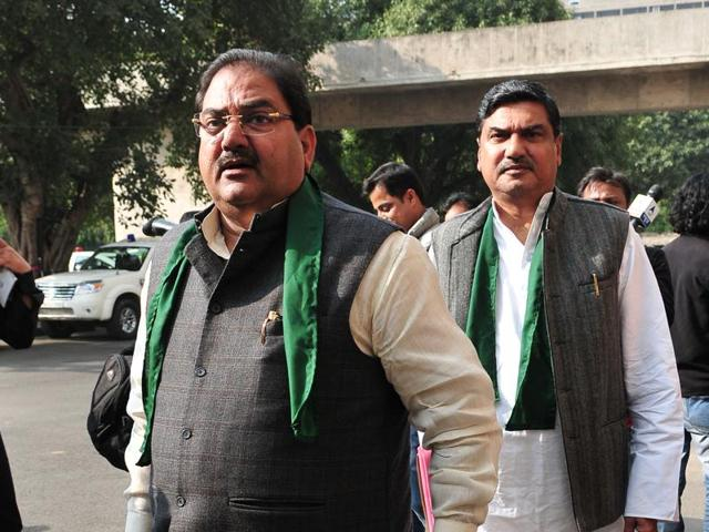 INLD leader Abhay Singh Chautala at Haryana Vidhan Sabha session in Chandigarh on Monday.