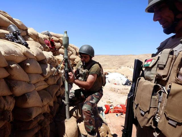A 'specialised expeditionary targeting force' is being deployed in Iraq to help Iraqi and Kurdish Peshmerga forces (in picture) battle the Islamic State.