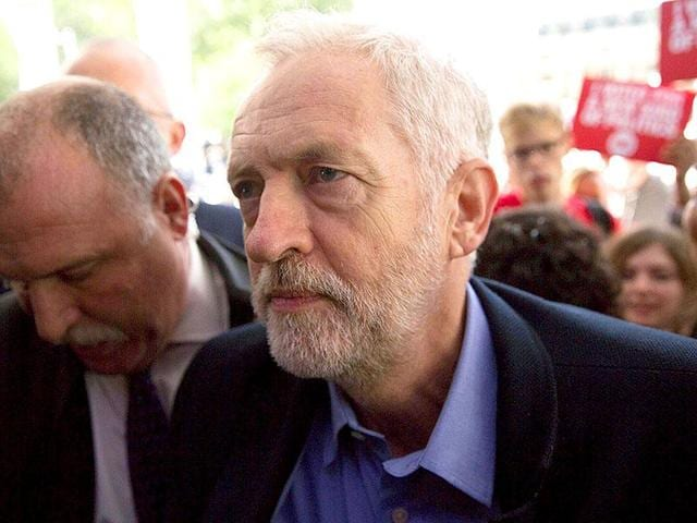 Jeremy Corbyn, leader of Britain's opposition Labour party.