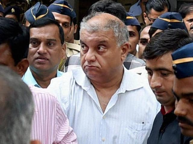 Peter Mukerjea after being produced by the CBI at a court last week.