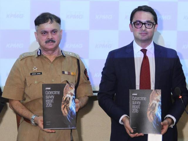 Commissioner of police Javed Ahmed and Mritunjay Kapur, head of risk consulting for KPMG in India, released the survey report in Mumbai on Monday.