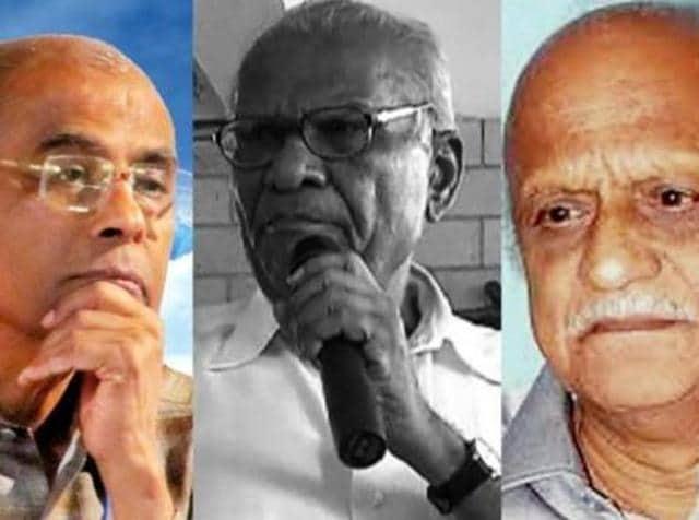 A combination photo of Narendra Dhabolkar, Govind Pansare and MM Kalburgi.