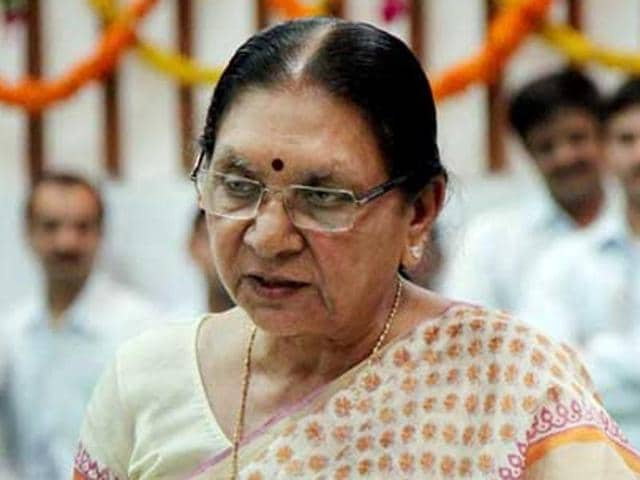 Gujarat chief minister Anandiben Patel. The state BJP is facing difficulty to find a new chief to take onus ahead of the state assembly polls in 2017.