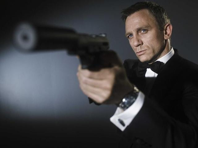Daniel Craig as agent 007 James Bond.