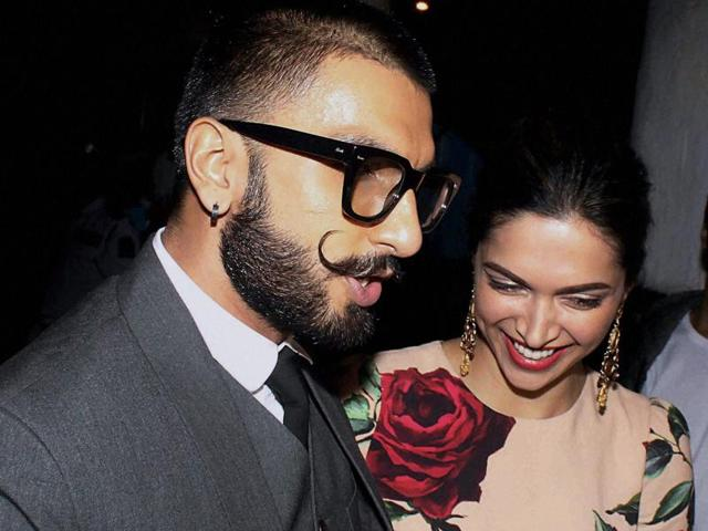 Ranveer Singh and Deepika Padukone celebrate the success of Tamasha which has Ranbir Kapoor in its lead.